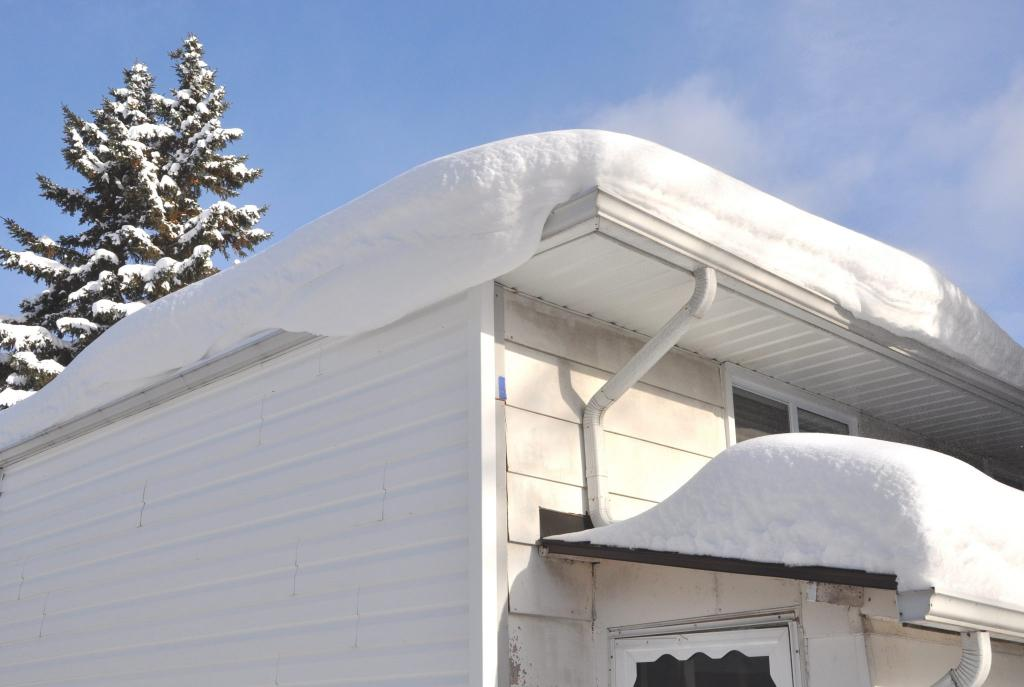 snow over gutters