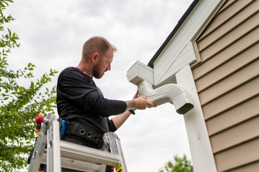protect gutters from ice and snow