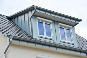 house with gutter guards